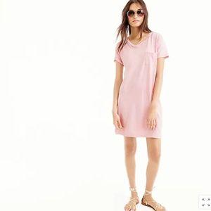 NWOT Navy Garment-Dyed Pocket T-Shirt Dress